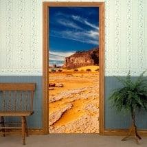 Vinilos para puertas desierto del Sahara