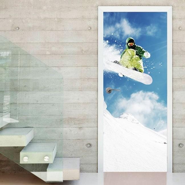 Vinilos para puertas snowboard