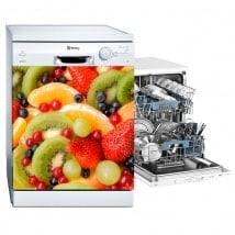 Vinilos decorativos lavavajillas frutas
