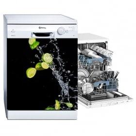 Vinilos para lavavajillas limones splash