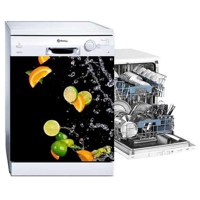 Vinilos para lavavajillas naranjas y limones