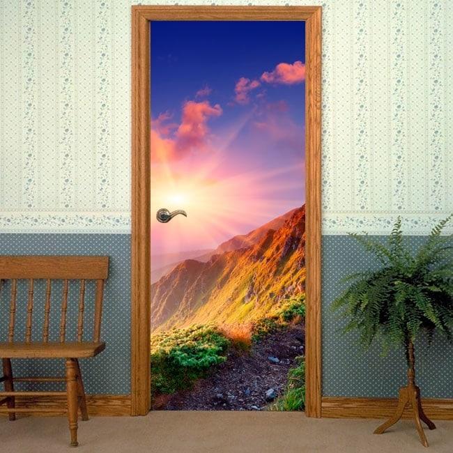 Vinilos decorativos para puertas atardecer monta as - Arcos decorativos para puertas ...