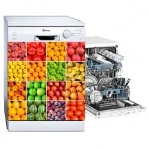 Vinilos para lavavajillas collage frutas y hortalizas