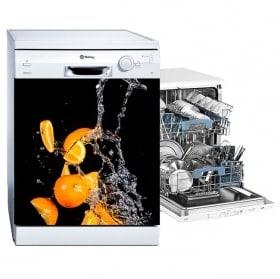 Vinilos para lavavajillas naranjas splash