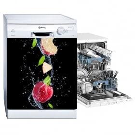 Vinilos para lavavajillas manzana splash
