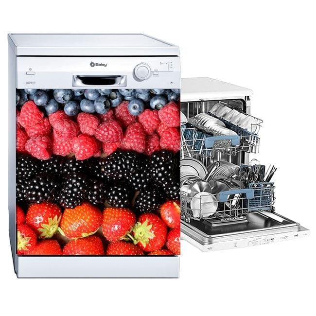 Vinilos para lavavajillas fruits collage