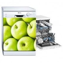 Vinilos decorativos lavavajillas manzanas