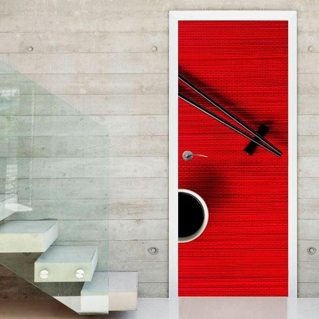 Vinilos decorativos puertas chopsticks for Vinilos decorativos puertas