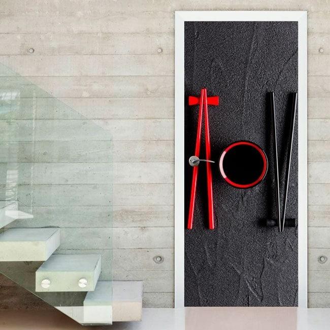 Pegatinas para puertas chopsticks