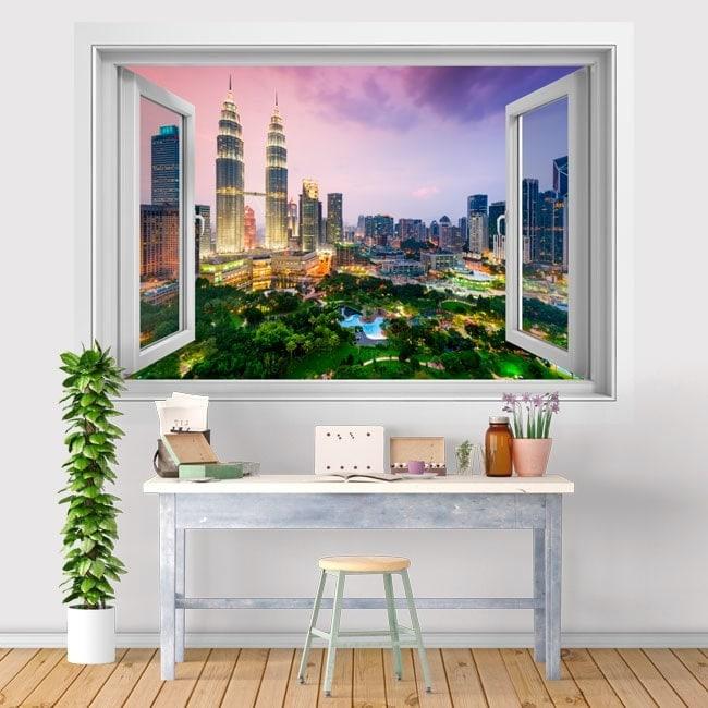Ventanas de vinilo 3D Kuala Lumpur Malasia