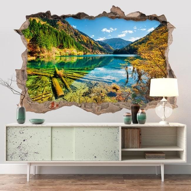 Vinilos decorativos 3D lago Bamboo Canadá