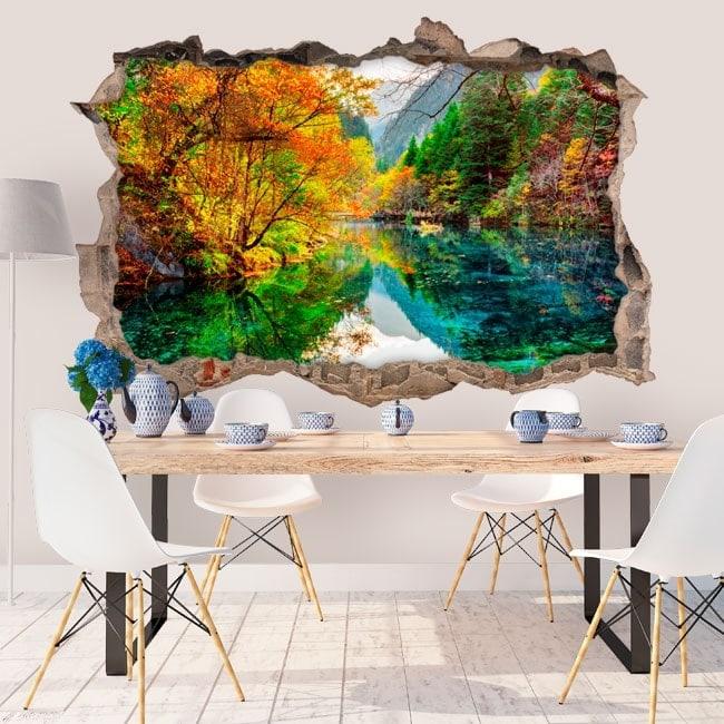 Vinilos decorativos 3D lago five flower China