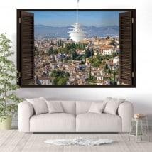 Ventanas de vinilo 3D Albaicín Granada España