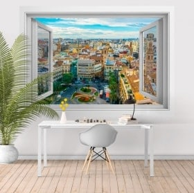 Ventanas de vinilo 3D Valencia plaza de la reina