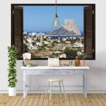 Ventanas de vinilo 3D Peñón de Gibraltar