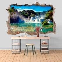 Vinilos 3D cascadas parque nacional Krka