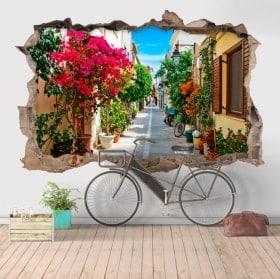 Vinilos decorativos 3D Rétino ciudad de Grecia