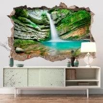 Vinilos decorativos 3D cascada en Eslovenia