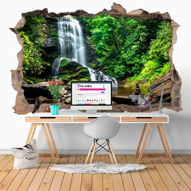 Vinilos decorativos 3D cascadas Catawba Old Fort