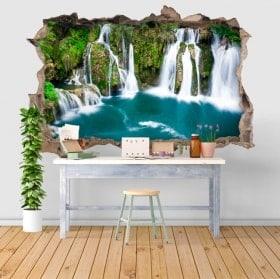 Vinilos decorativos 3D cascadas en Martin Brod