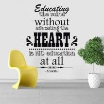 Vinilos frases motivadoras Aristóteles