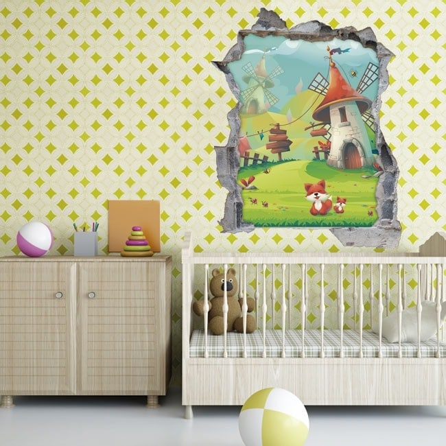 Vinilos infantiles 3d felicidad animal for Vinilos 3d infantiles