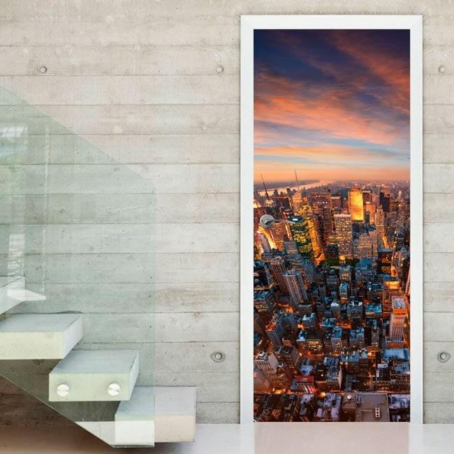 Vinilos decorativos puertas Nueva York