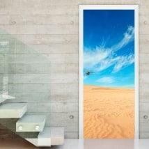 Vinilos decorativos puertas desierto