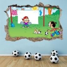 Vinilos 3D fútbol infantil