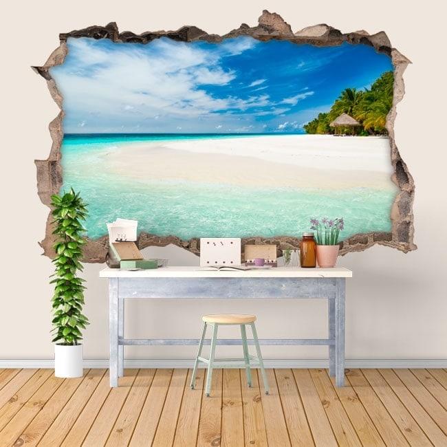 Vinilos 3D paraíso tropical