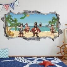 Vinilos 3D piratas del Caribe