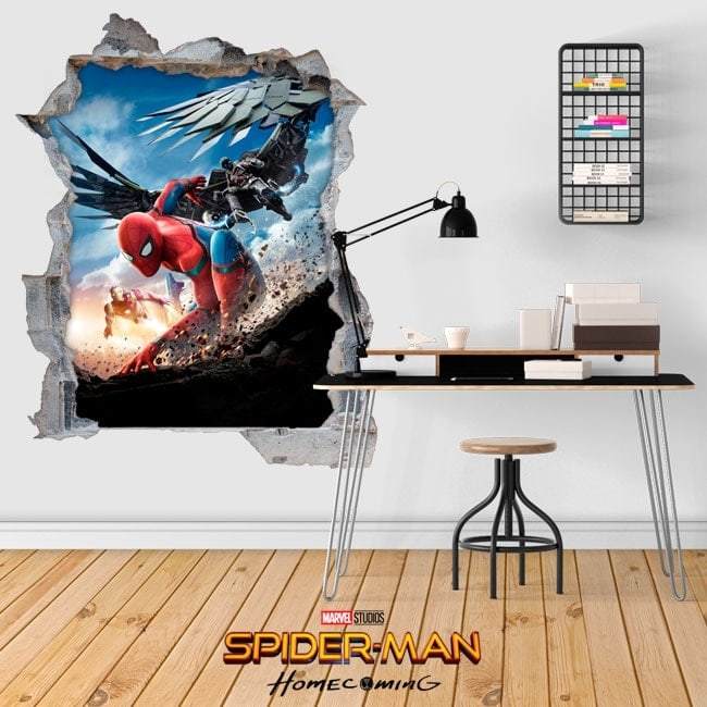 Vinilos 3D spiderman homecoming