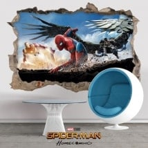 Vinilos decorativos 3D spiderman homecoming