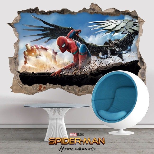 Vinilos decorativos 3D spiderman homecoming