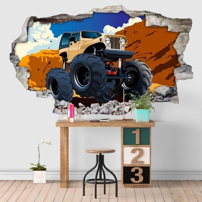 Vinilos adhesivos monster truck 3D