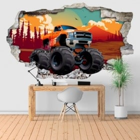 Vinilos y pegatinas monster truck 3D