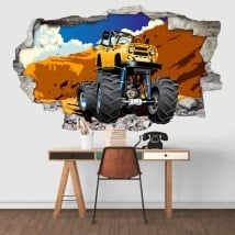 Vinilos decorativos monster truck 3D