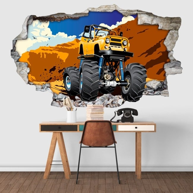 Vinilos decorativos monster truck 3D