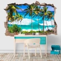 Vinilos decorativos playas Sri Lanka 3D