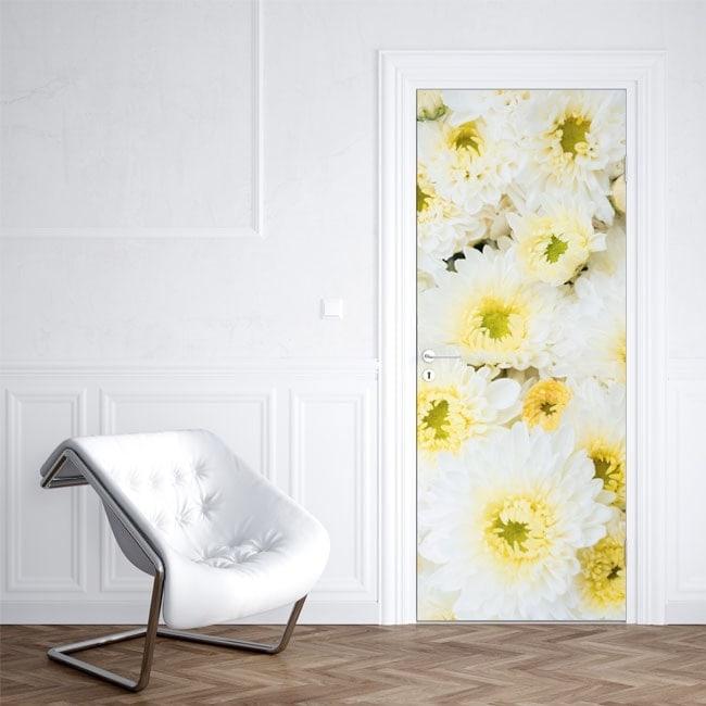 Vinilos decorativos para puertas flores - Puertas de vinilo ...