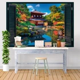 Ventanas vinilos 3D Ginkaku-ji Kioto Japón