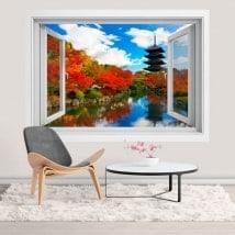 Ventanas de vinilos 3D Toji pagoda en Kioto