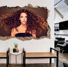 Vinilos para peluquerías con estilo 3D