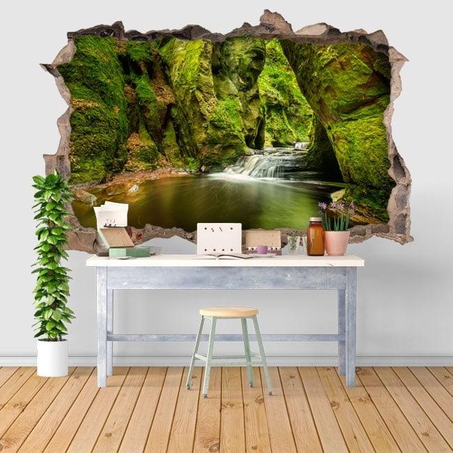 Vinilos decorativos Finnich Glen Escocia 3D