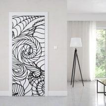 Vinilos para puertas líneas abstractas