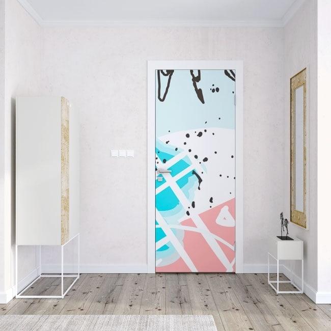 Vinilos para puertas colores tropicales for Vinilo pared completa