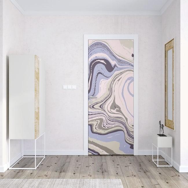 decoración puertas colores mármol
