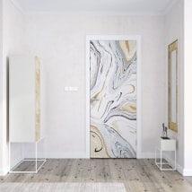 Vinilos decorativos para puertas mármol