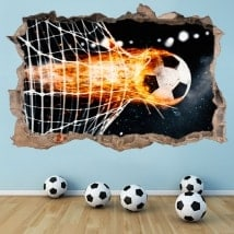 Vinilos decorativos gol fútbol 3D