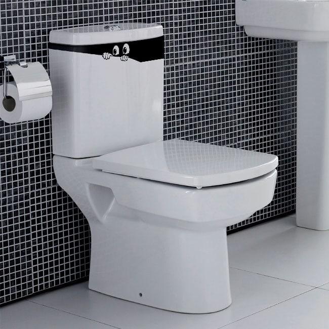 Vinilos para baños y paredes ojos que asoman